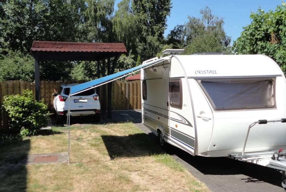 Wohnmobil mieten in Oberhausen von privat | Cristall Cristall Samoa 450 TF Lite mit Festbett, TV, Fahrradträger, 100er Zulassung und Sackmarkise