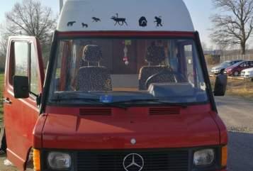 Wohnmobil mieten in Hamburg von privat | Mercedes mb 210 Red Velvet