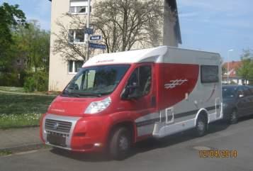 Wohnmobil mieten in Erlangen von privat | Detleffs Fiat rotes Playmobil