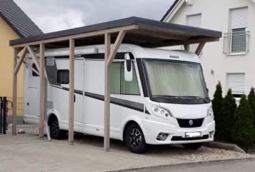 Wohnmobil mieten in Hagenbüchach von privat   Knaus Knausi