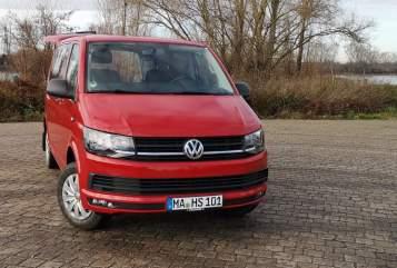 Wohnmobil mieten in Mannheim von privat | VW Red Bully