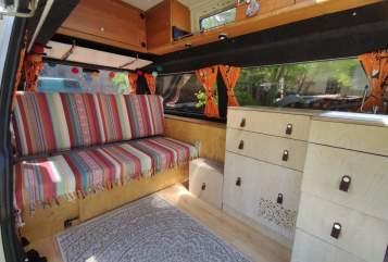 Wohnmobil mieten in Petersberg von privat | VW T4 Hochdach Clärenore