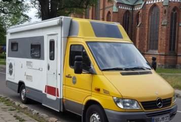 Wohnmobil mieten in Bad Doberan von privat   Mercedes  Sprinter  Kasten  Schneckenpost