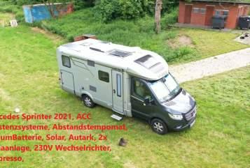 Wohnmobil mieten in Oberhausen von privat   Hymer Mercedes Sprinter Edel Hymer580