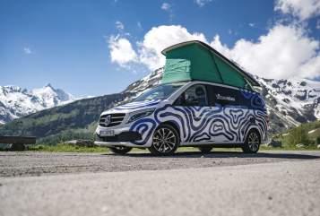 Wohnmobil mieten in Rosenheim von privat | Mercedes himmeblau-Bus