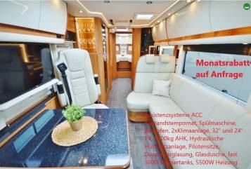 Wohnmobil mieten in Oberhausen von privat   Concorde Mercedes Concorde Charisma IVECO Morelo EdelCharisma 5*