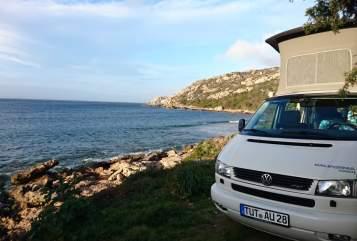 Wohnmobil mieten in Tzaramonte von privat   Volkswagen Pecora Bianca