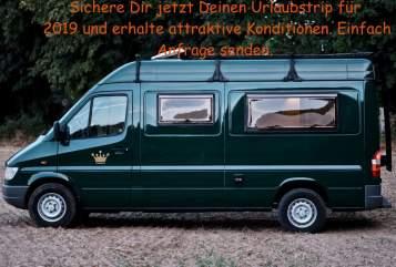 Wohnmobil mieten in Hamburg von privat | Mercedes Benz Froschkönig