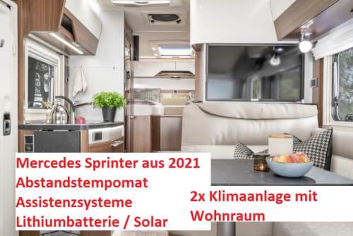 Wohnmobil mieten in Oberhausen von privat | Hymer Mercedes Sprinter Edel MC580