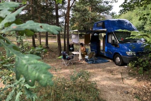 Wohnmobil mieten in Berlin von privat | Ford Transit Blaues Monster