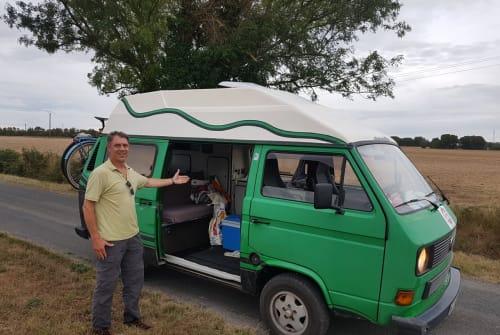 Wohnmobil mieten in Köln von privat | VW T3 Hochdach Frosch