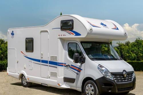 Wohnmobil mieten in Klipphausen von privat | Ahorn Camp 683 ECO mit Klima Domino-6 Gurte