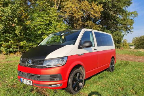 Wohnmobil mieten in Erlangen von privat   VW Bulli Rot Weiß
