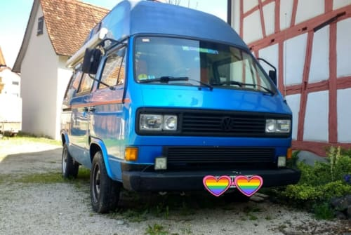 Wohnmobil mieten in Deggenhausertal von privat   Volkswagen Bus Blauer Wal