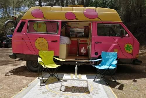 Wohnmobil mieten in Santa Eulària des Riu von privat   VW  Hippie camper