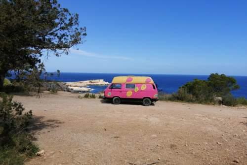 "Wohnmobil mieten in Ibiza-stad von privat   VW transporter feelin""groovy"