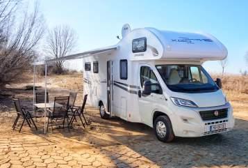 Wohnmobil mieten in Neukirchen-Vluyn von privat | Fiat XGO Joni-Camper - Neuer Alkoven